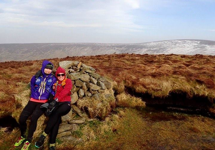 With Siobhan on Sugarloaf Donard, photo by Mark Kearns