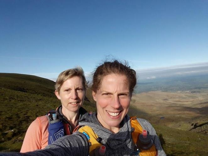 Descending Lugnaquilla with Siobhan Hayes